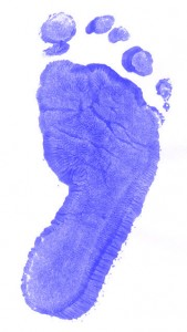 Footprint Single Blue